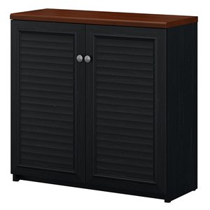 Bush Fairview Storage Cabinet with Doors in Antique Black