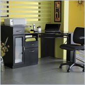 Bush Vantage Corner Wood Computer Desk in Black