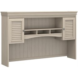 Bush Fairview Antique White Hutch for L-Desk