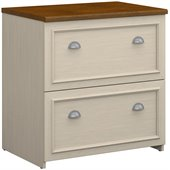Bush Fairview 2 Drawer Lateral Wood File Cabinet in White