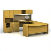 Bush Quantum Left L-Shape Office Suite in Modern Cherry