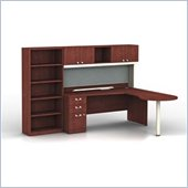 Bush Quantum Harvest Cherry L-Shaped  Right Configuration with Hutch