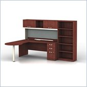 Bush Quantum Harvest Cherry Left L-Shaped Desk