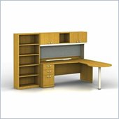 Bush Quantum Right L-Shape Office Suite in Modern Cherry