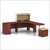 Bush Quantum Harvest Cherry Professional Right L-Shaped Desk