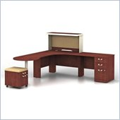 Bush Quantum Harvest Cherry Professional Left L-Shaped Desk