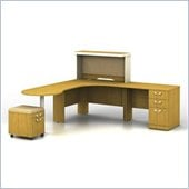 Bush Quantum Modern Cherry Professional Left L-Shaped Desk