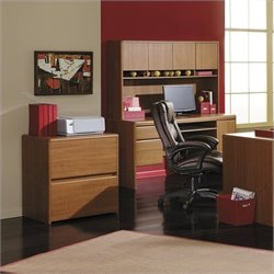 Bush Northfield 2 Drawer Lateral File Cabinet in Dakota Oak