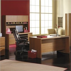 Bush Northfield Executive Credenza Computer Desk Set