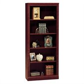 Bush Saratoga 5 Shelf 71H Wood Bookcase in Harvest Cherry