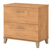 Bush Somerset 2 Drawer Wood Lateral File Storage Cabinet in Maple