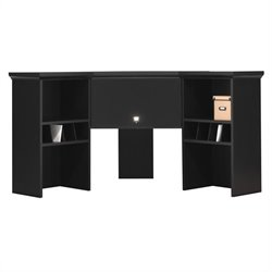 Bush MySpace Stockport Wood Corner Hutch in Black Finish