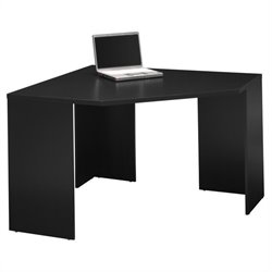 Bush MySpace Stockport Wood Corner Desk in Black