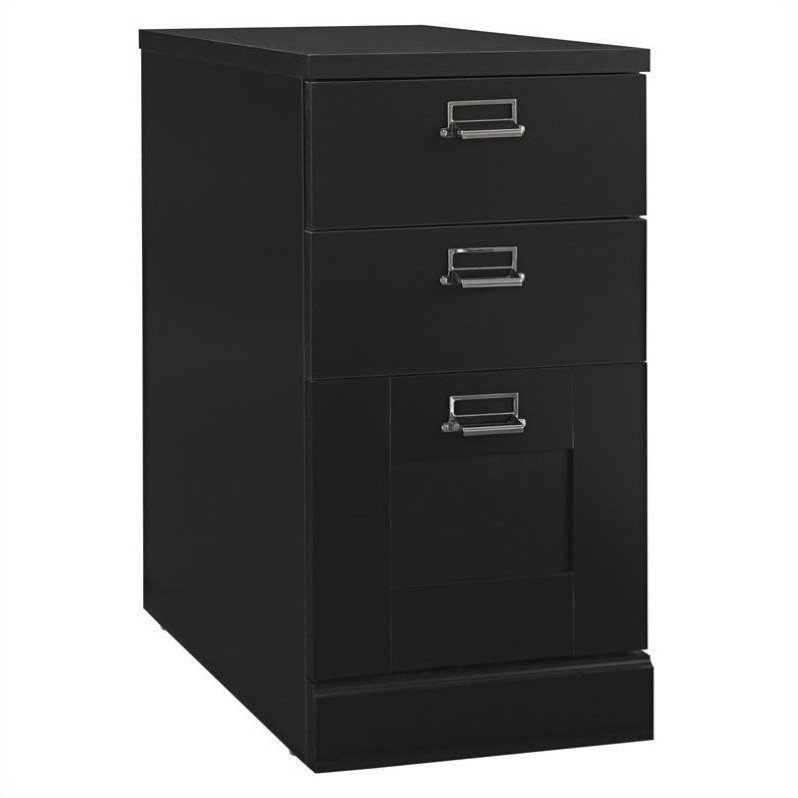 MySpace 3 Drawer File Cabinet in Classic Black