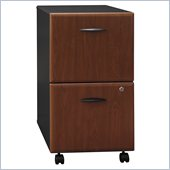 Bush Series A 2 Drawer Mobile Wood File Cabinet in Hansen Cherry