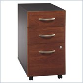 Bush Series C 3 Drawer Vertical Wood File Cabinet in Hansen Cherry