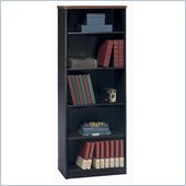 Bush Series A Hansen 5 Shelf Wood Bookcase in Galaxy Black