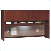 Bush Series C 71 Four Door Wood Hutch in Hansen Cherry