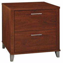 Bush Somerset 2 Drawer Lateral File Cabinet in Hansen Cherry