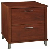 Bush Somerset 2 Drawer Lateral Wood File Cabinet in Hansen Cherry