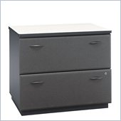 Bush Advantage Series 2 Drawer Lateral Wood File Storage Cabinet in Slate