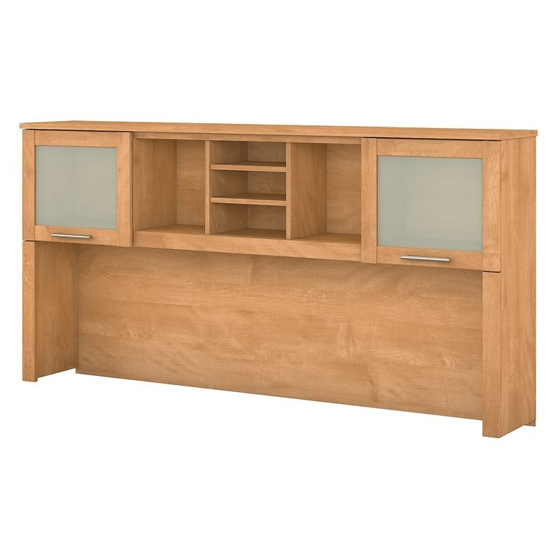 Somerset  Hutch for 70 inch L-Desk in Maple Cross