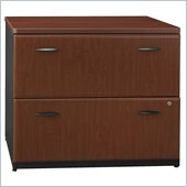 Bush Series A  2 Drawer Lateral Wood File Storage Cabinet in Hansen Cherry