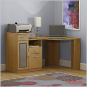 Bush Vantage Corner Home Office Computer Desk in Light Dragonwood Finish