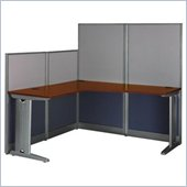 Bush Office-in-an-Hour L-Shape Workstation in Hansen Cherry