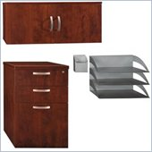 Bush Office-in-an-Hour  File, Hutch, Paper/Pencil Storage Kit