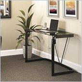 Bush Pictor Collection 48 Metal and Glass Desk in High Gloss Black