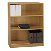 Bush Universal 48H 3 Shelf Wood Bookcase in Snow Maple