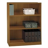 Bush Universal 48H 3 Shelf Wood Bookcase in Royal Oak