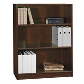 Bush Universal 48H 3 Shelf Wood Bookcase in Vogue Cherry
