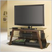 Bush Mezo TV Stand with Interchangeable Glass in Mocha Mahogany