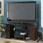 Bush Pimlico Wood TV Stand in Espresso and Satin Black