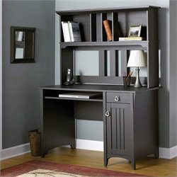 Bush Salinas Mission Style Computer Desk with Hutch
