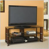 Bush Segments Wood 3 in 1 Flat Panel TV Stand in Rosebud Cherry