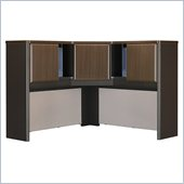 Bush Series A 48 Corner Hutch in Sienna Walnut/Bronze