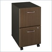 Bush Series A Two-Drawer File in Sienna Walnut/Bronze