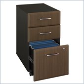 Bush Series A Three-Drawer File in Sienna Walnut/Bronze