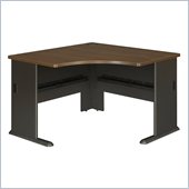 Bush Series A 48 Corner Desk in Sienna Walnut/Bronze