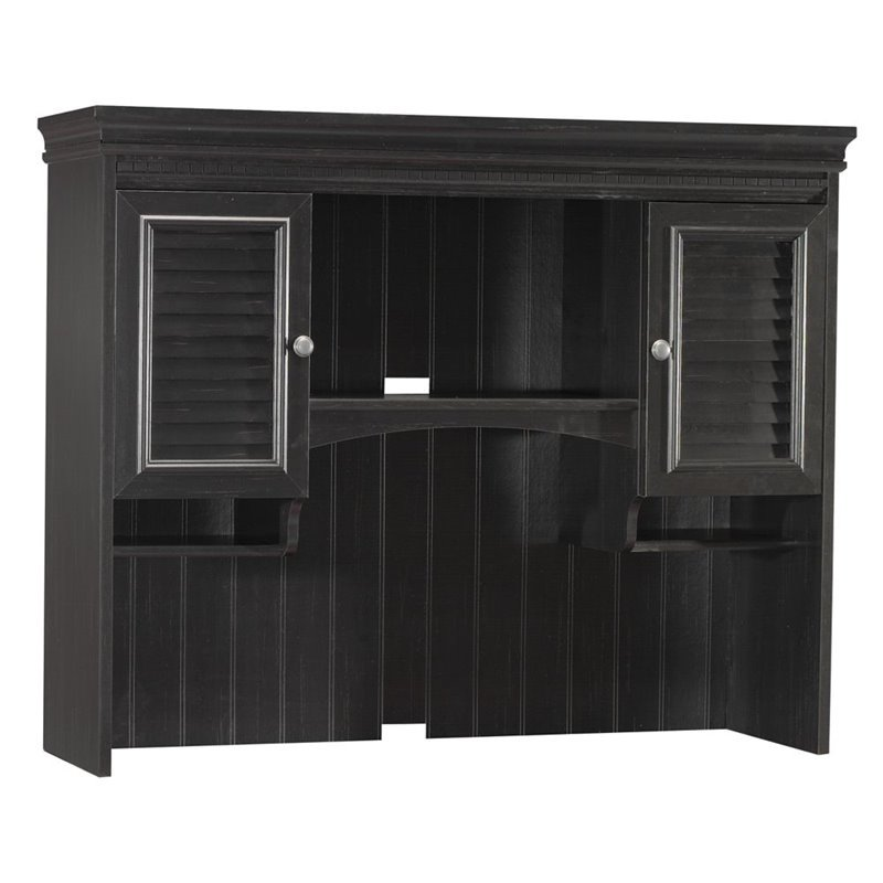 Stanford Collection Hutch in Antique Black with Hansen Cherry Finish