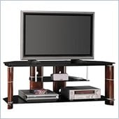 Bush 58 Segments TV Stand in Rosebud Cherry Finish