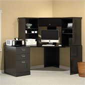 Bush MySpace Stockport Office Set in Black Finish