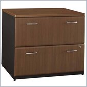 Bush Series A 2 Drawer Lateral File in Sienna Walnut/Bronze