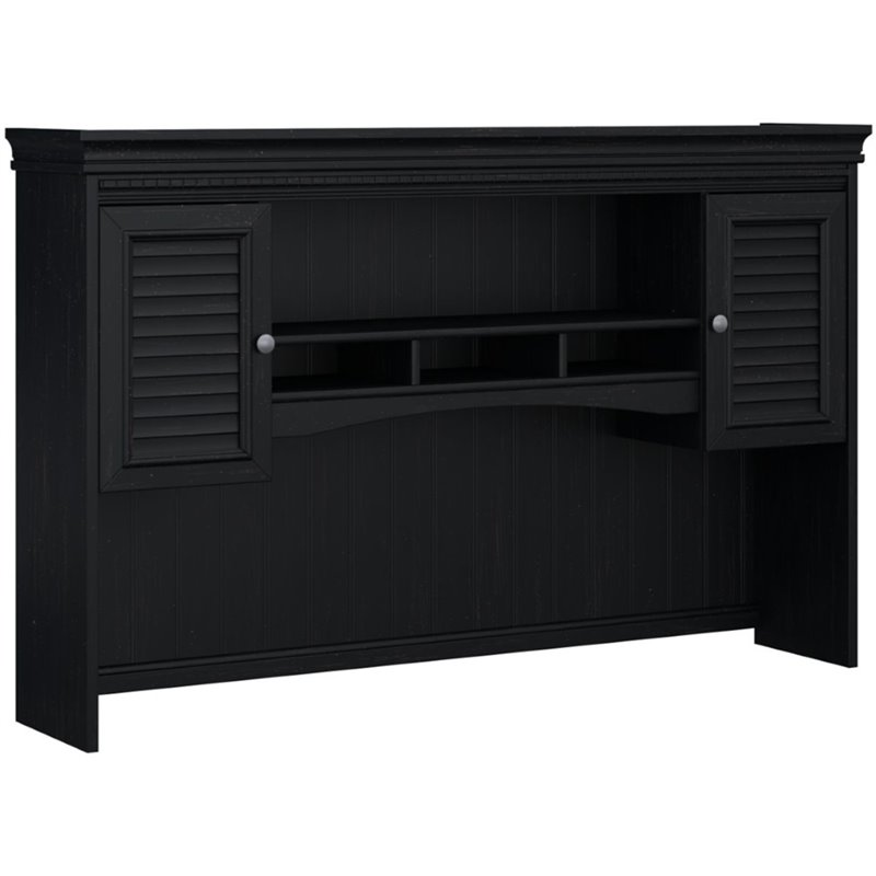 L Shaped Desk With Hutch Black Www Imgkid Com The