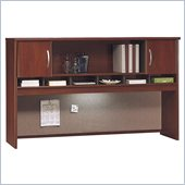 Bush Hansen Cherry Series C 71 Two Door Wood Hutch in Hansen Cherry
