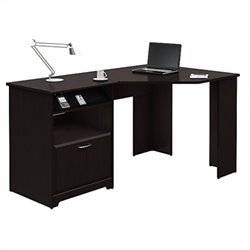 Bush Cabot Corner Computer Desk in Espresso Oak
