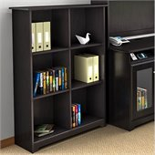 Bush Cabot 6 Cube Bookcase in Espresso Oak